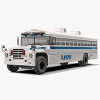 new york nypd bus 3D model