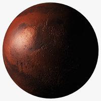 3D realistic mars planet