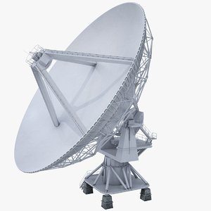 radio telescope satellite dish 3D model