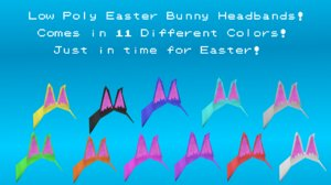 easter bunny headbands 3D model