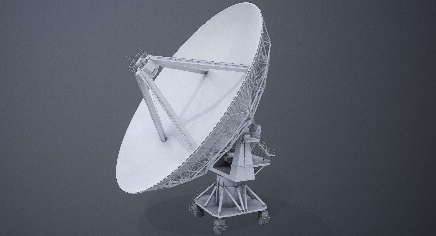 radio telescope satellite dish 3D model