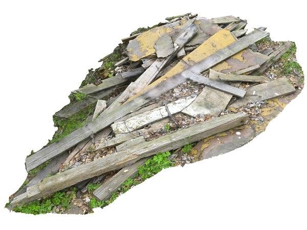 wooden debris model