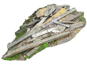 wooden debris model