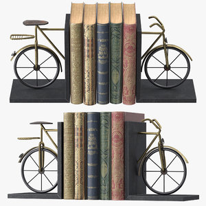 bicycle book ends 3D model