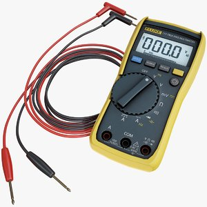 realistic multimeter 3D model