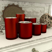 vases red glass 3D model