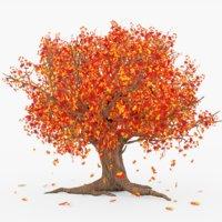 Tree Falling Leafs