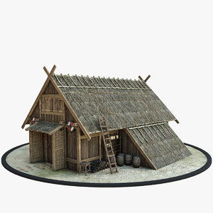 3D medieval viking house