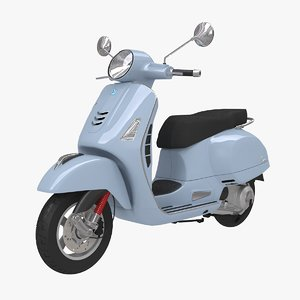 3D vespa gts scooter model