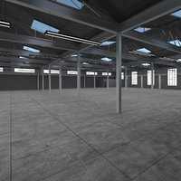 warehouse scene 3D model