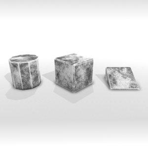 stone blocks 3D model