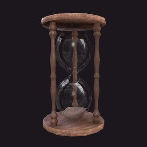 hourglass glass 3D