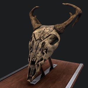 3D ram skull mask decor