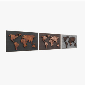 3D world worldmap model