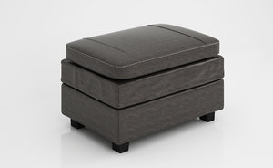 3D chair ottoman gleason model