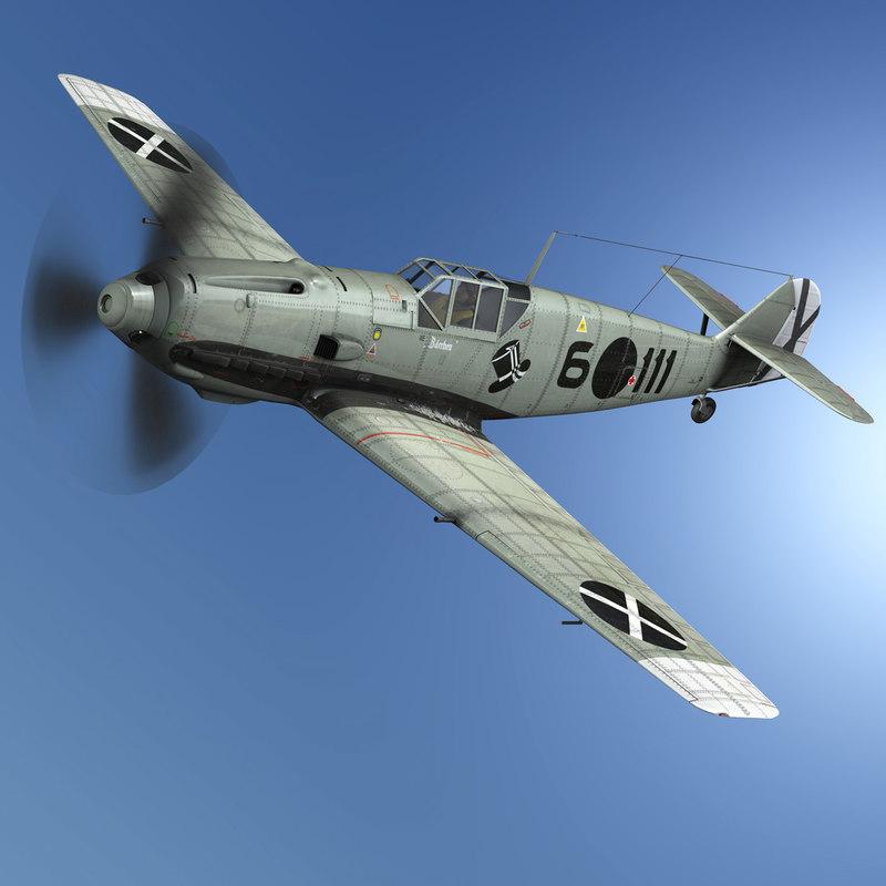 3D messerschmitt - bf-109 e model