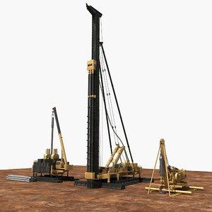 3D construction machinery 1 model
