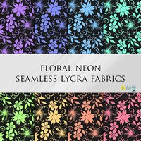Floral Neon Seamless Textures