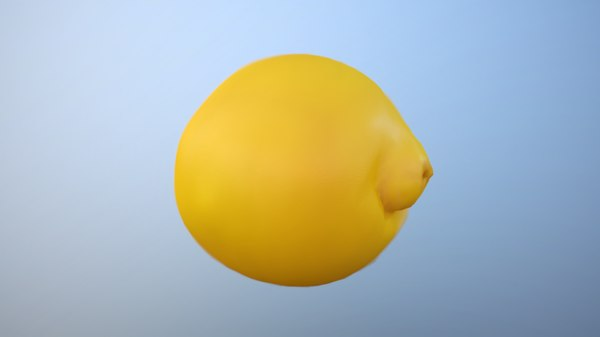 3D scan lemon model