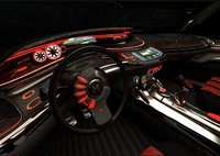 futuristic car dash board (saloon)
