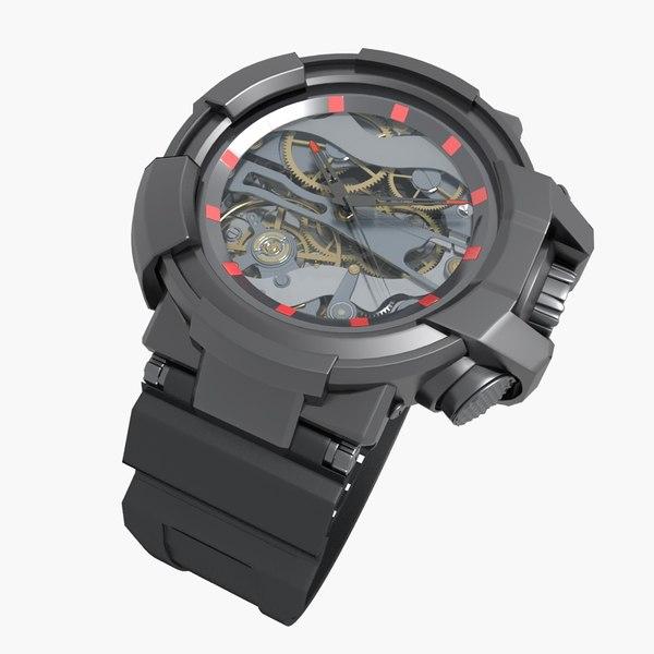 3D model sports watch