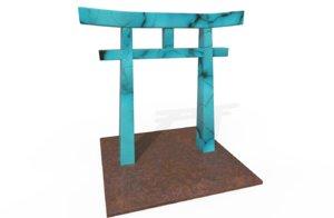 3D japanese tori gate model