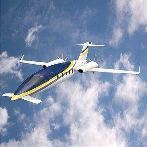 futuristic airplane 3D
