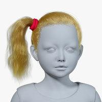 realistic hairstyle hair fur model
