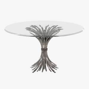 table somerset dining bernhardt 3D