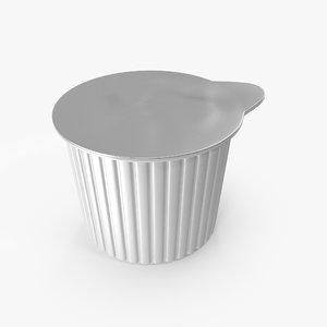 individual coffee creamer 3D model