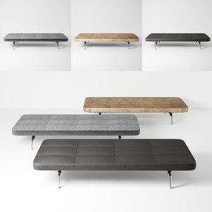 fritz hansen sofa pk8 3D model