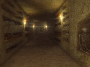 3D model catacomb pbr skeletons