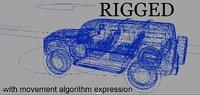 Rigged car