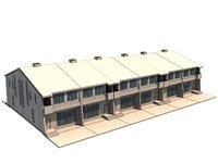 3D 2 story townhouse model