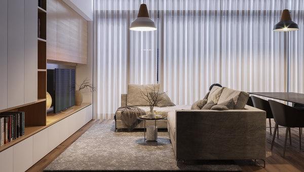 3D model apartment scene