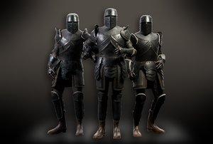 3D model pbr armour