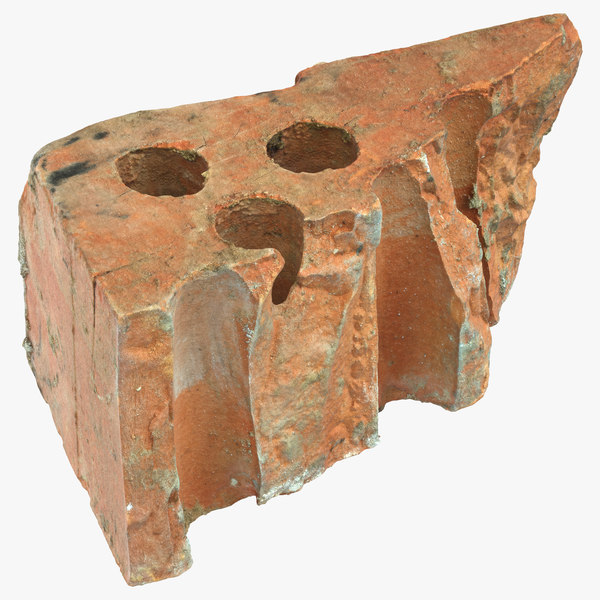3D model brick piece 03