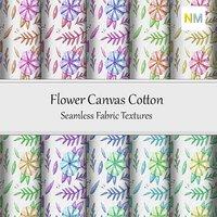 Flower Canvas Cotton Seamless Fabric Textures