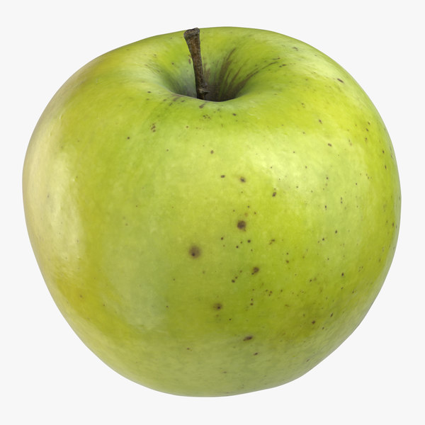 3D model granny smith apple 02