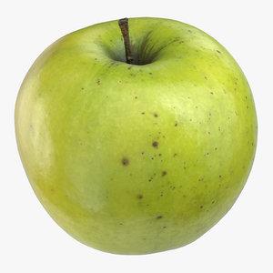 3D model granny smith apple 02