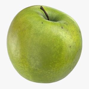 3D granny smith apple 03