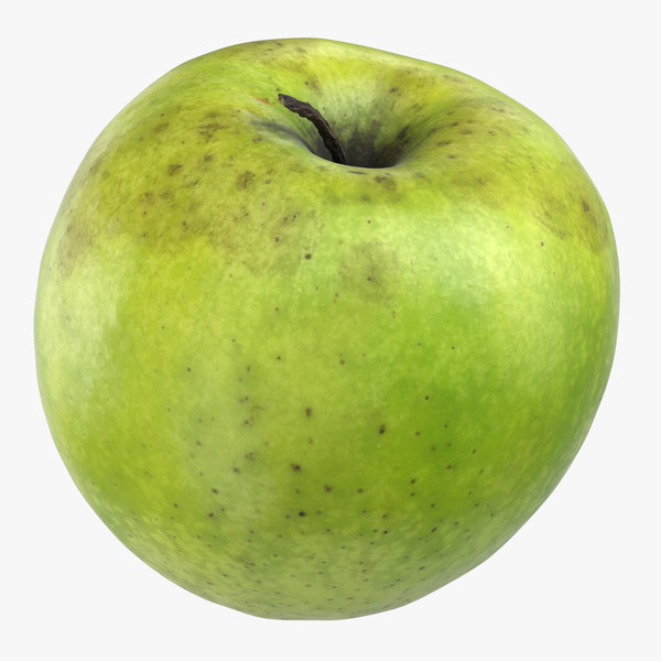granny smith apple 04 3D