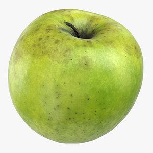 granny smith apple 04 3D
