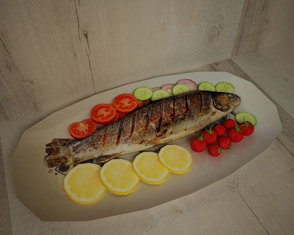 3D fish baked