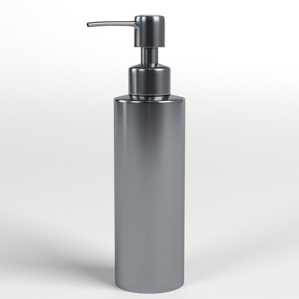 stainless steel pump dispenser 3D model