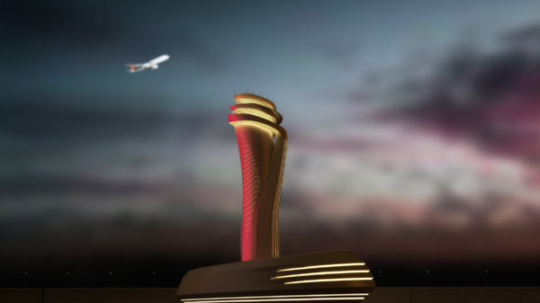 3D model istanbul tower airport