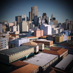 3D city