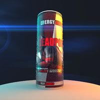 realistic soda drops 3D model