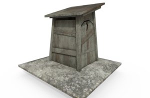 3D outhouse model