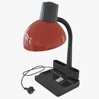 desk lamp red 3D model